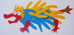 Hand Print Dragon