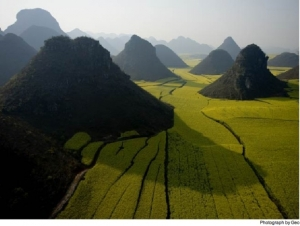 Yunnan from the air, courtesy of National Geographic Magazine